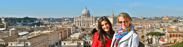 IES Abroad students in Rome, Italy