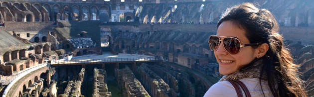 IES Abroad student in Rome, Italy