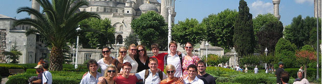 Group in front of Blue Mosque