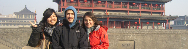A group of IES students in China