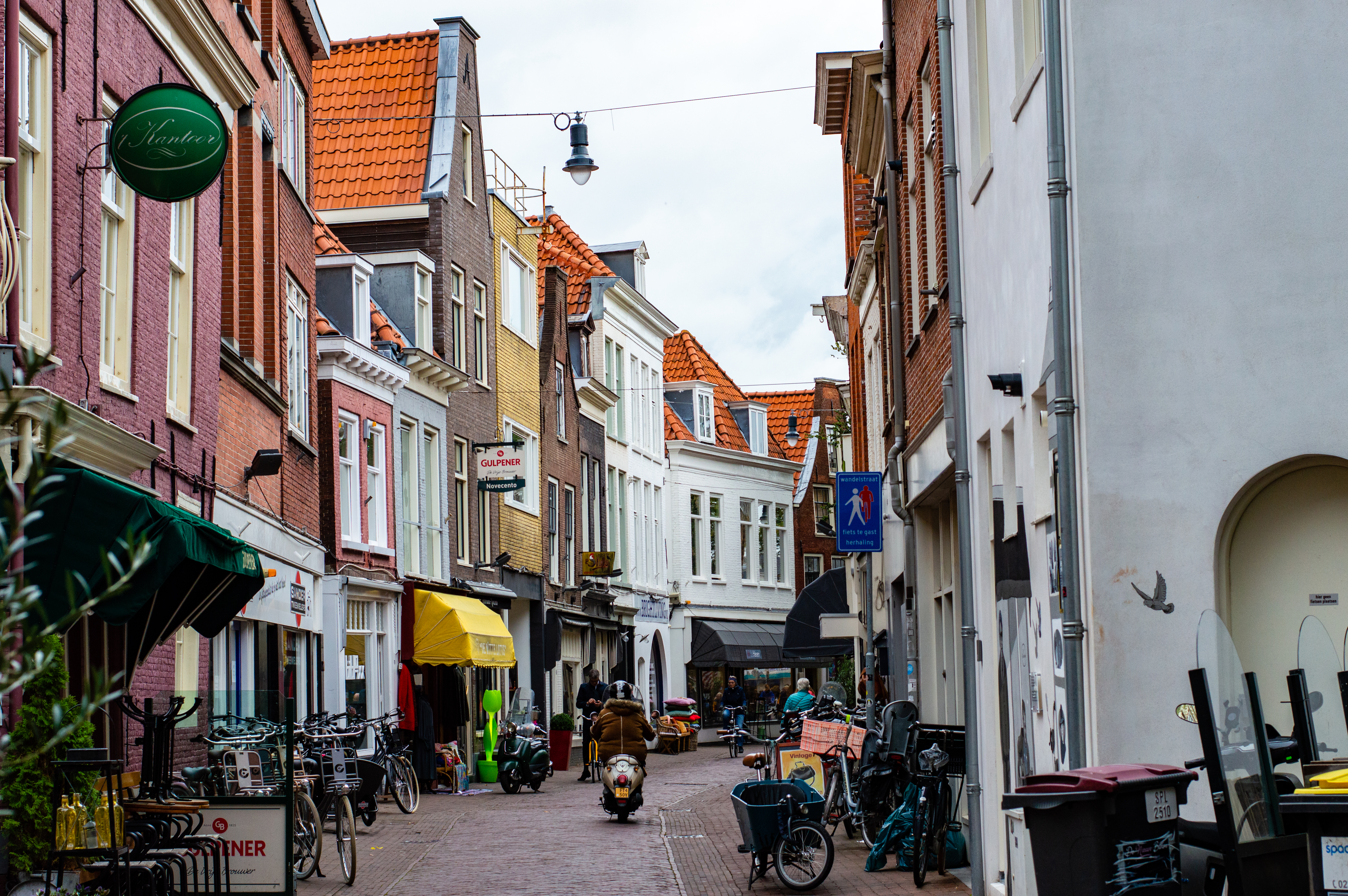 A Narrow Dutch Street in Haarlem