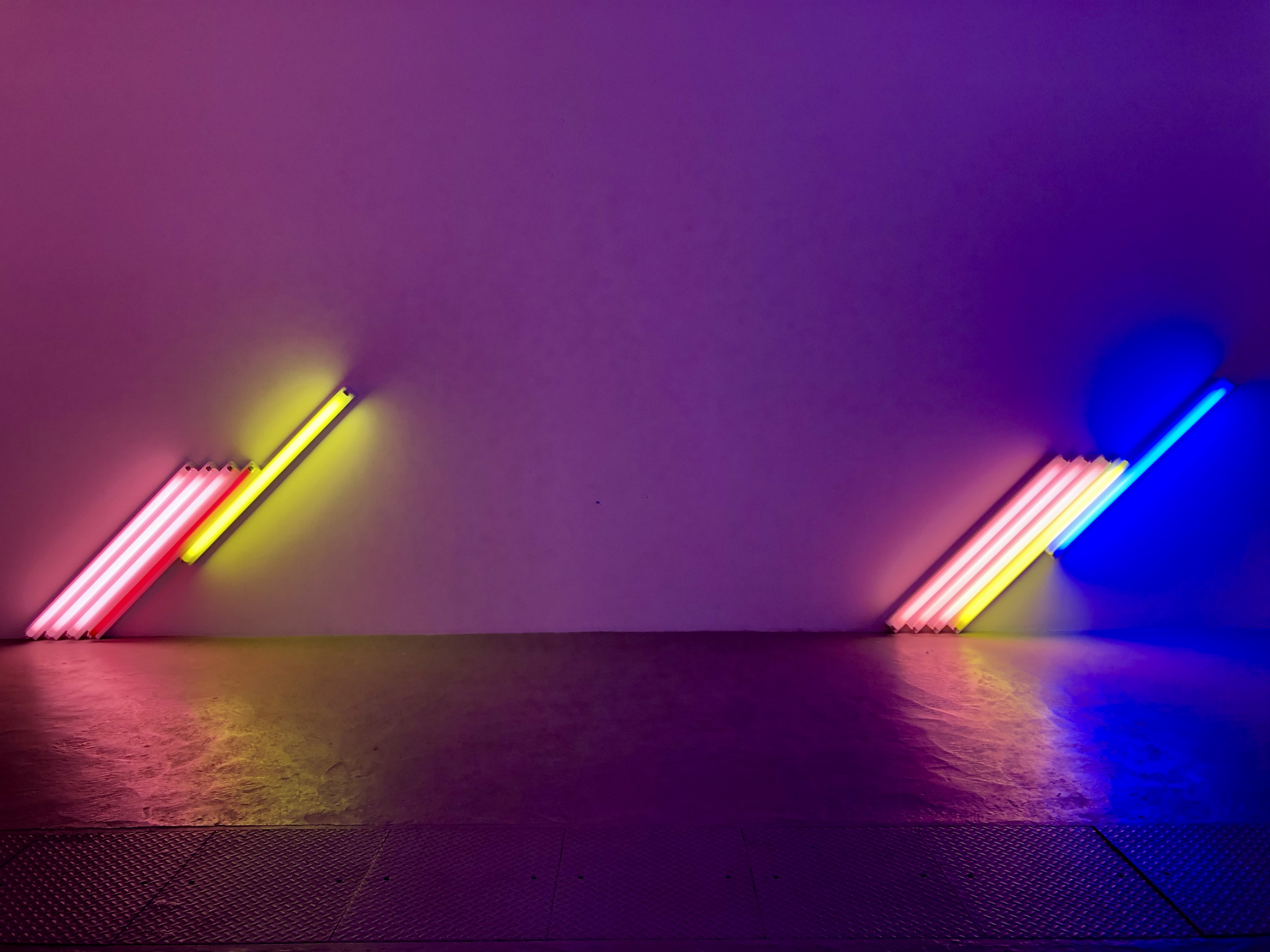 One of the first exhibits I went to for neon light artist, Dan Flavin.