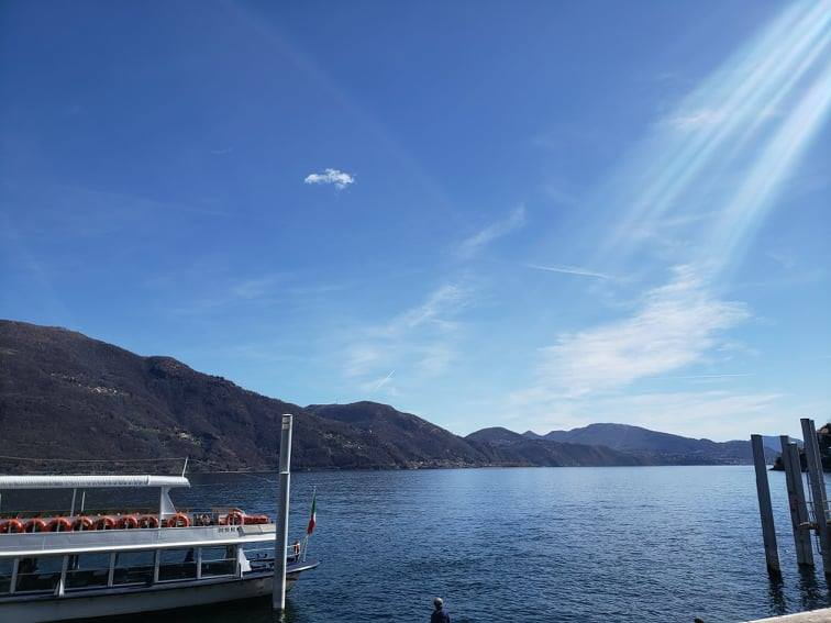Smooth waters and clear skies on the Cannobio dock