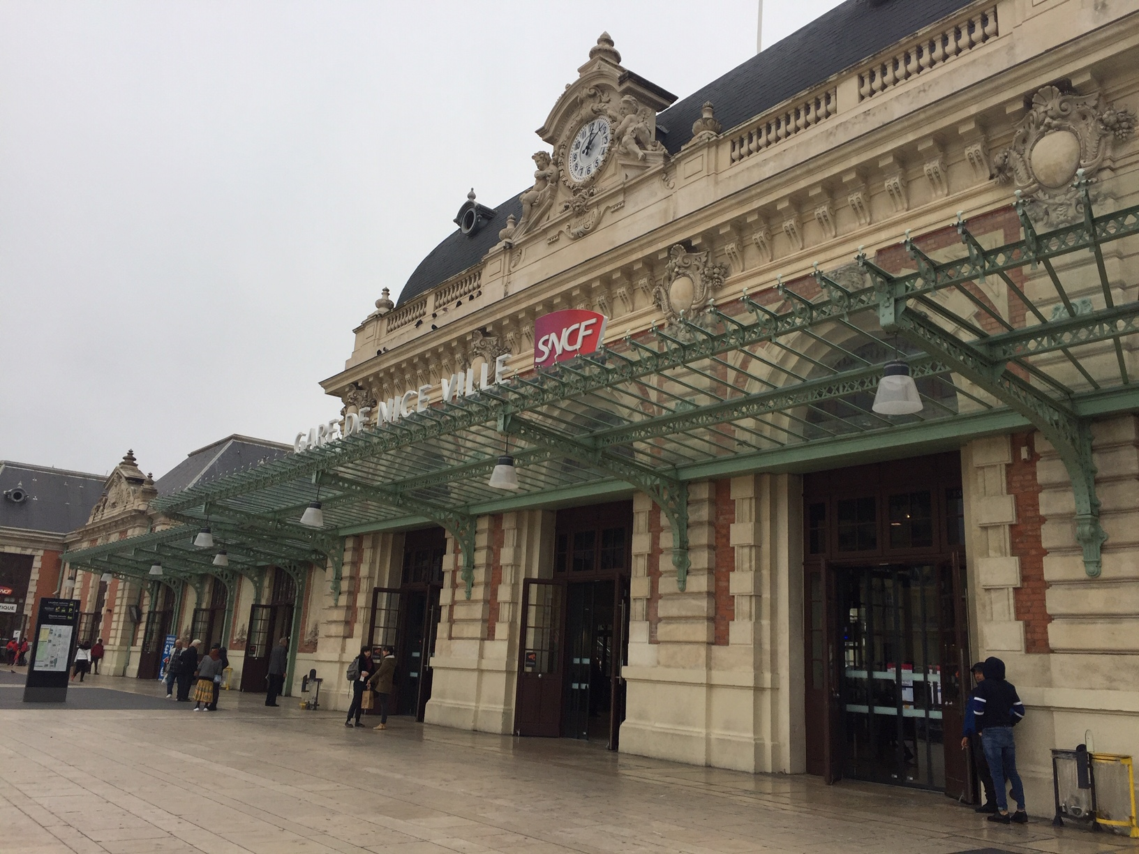 A View of the Nice Ville Train Station