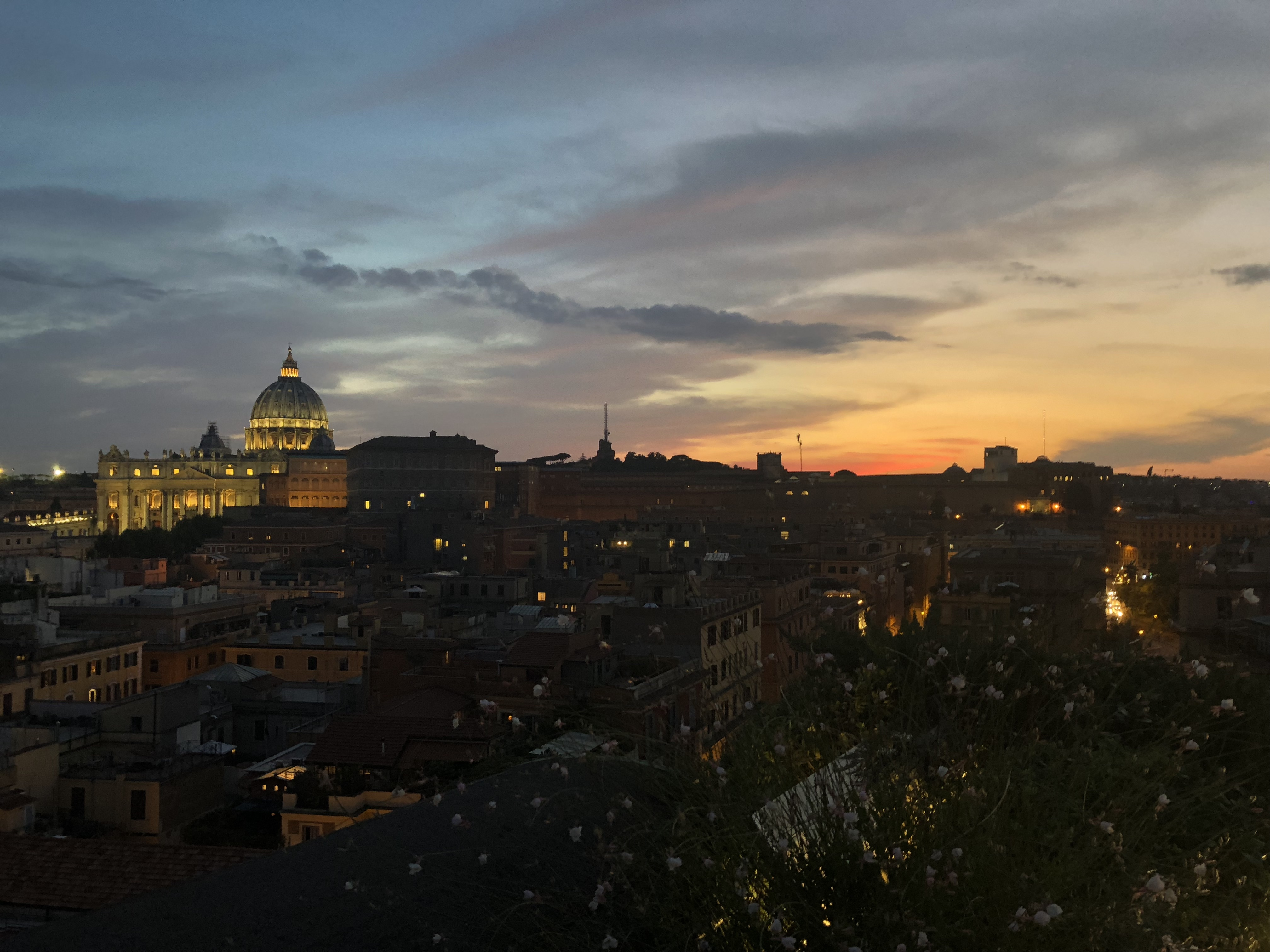 Rome cityscape at sunset