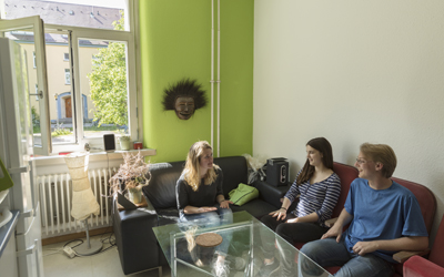 Students in Dorm Room in Freiburg