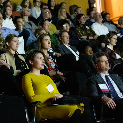 audience sitting in theater at 2018 Film Festival