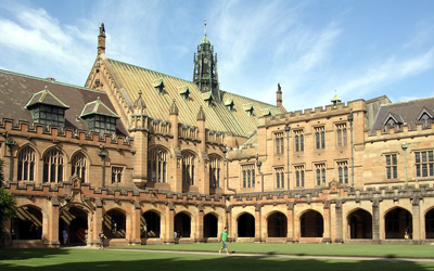 Building at University of Sydney where a Faculty-Led study abroad program could take courses