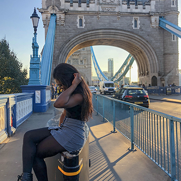Female student in London