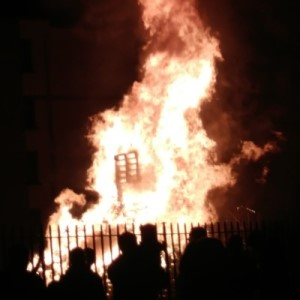 Large fire in honor of Samhain holiday in Ireland