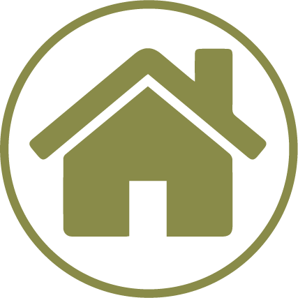 green icon of a house