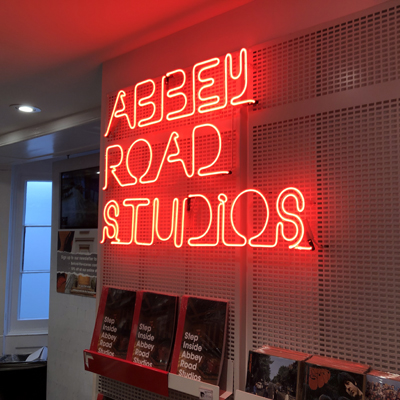 Neon Sign at Abbey Road Studios in London