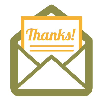 Thank you letter icon