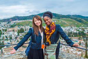 two study abroad students in Granada