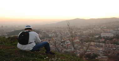 Christian canizal looks out over the city