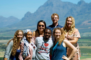 group of diverse students in cape town