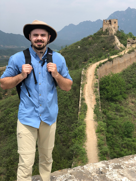 Jeremy Marks on the great wall of China