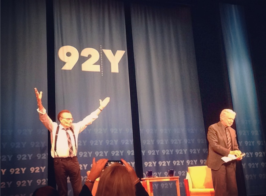 Larry King and Regis Philbin on Stage at the 92nd Street Y in New York City
