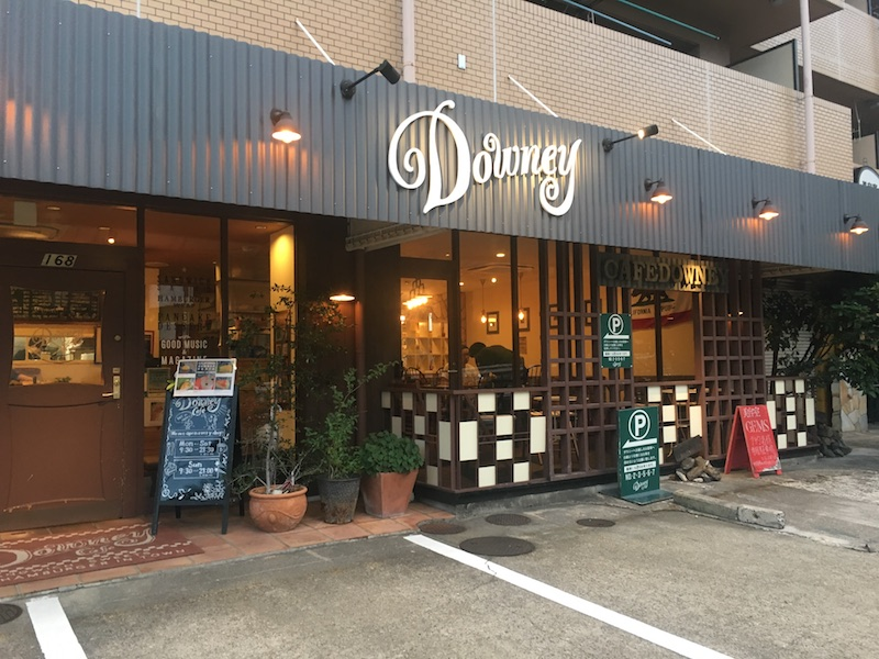 The outside of Downey Cafe in Nagoya, Japan