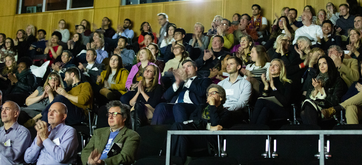 audience applauding at 2018 IES Abroad Film Festival Event