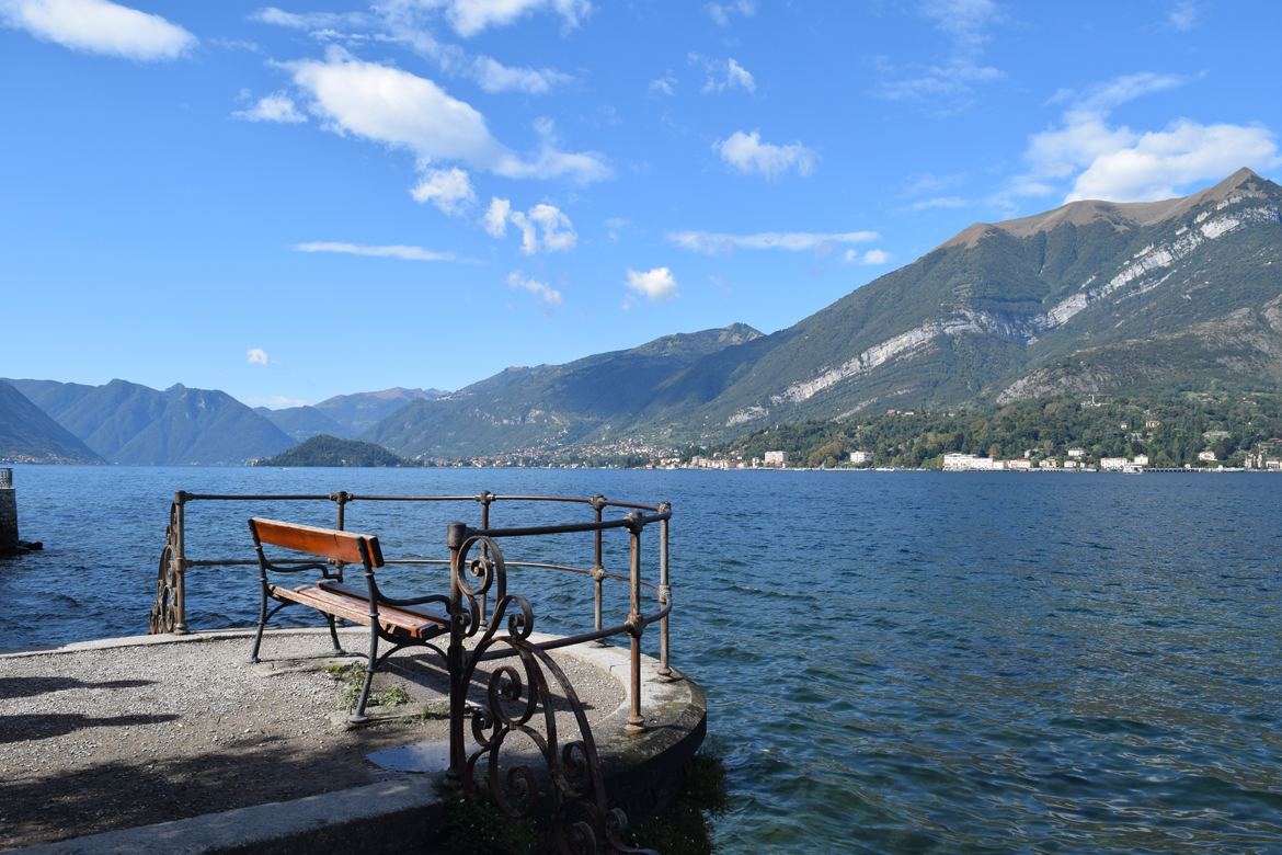 Bench overlooking Lake Como