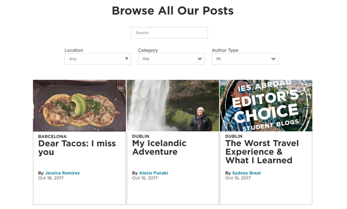 Browse our blogs