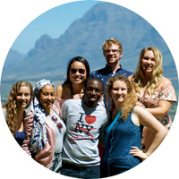 Students in Cape Town, South Africa