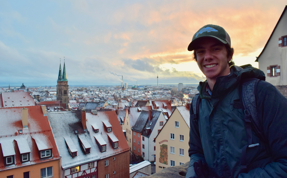 student studying abroad in Germany visiting Nuremberg