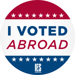 I voted abroad button