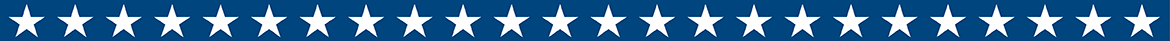 navy blue banner with white stars