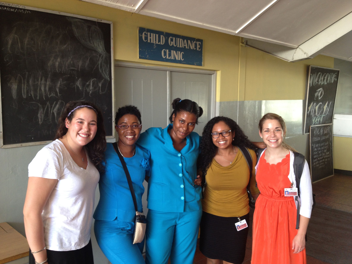 Students at Child Guidance Clinic in Jamaica