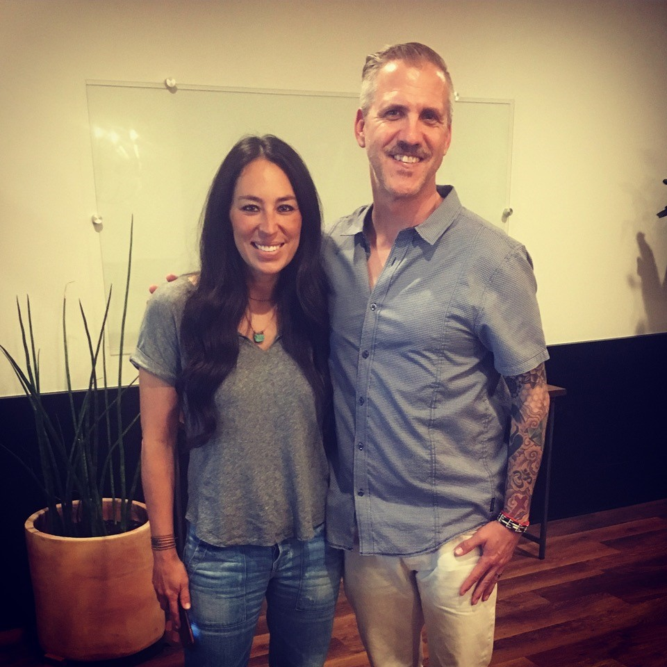 Patrick Jager with Joanna Gaines