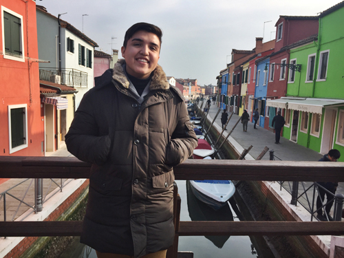 Milan study abroad student in Burano, Italy