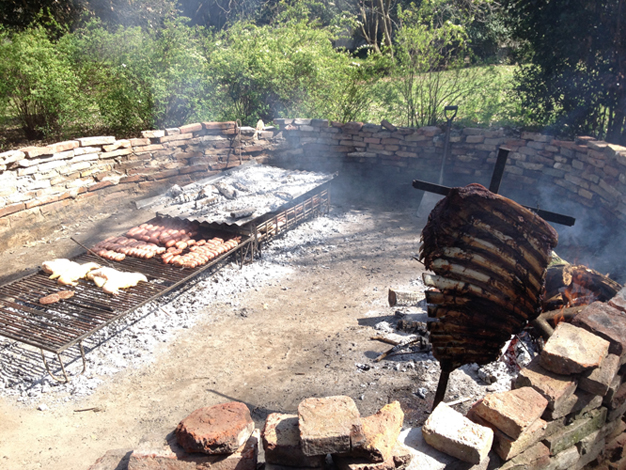 Cooking meat in Argentina