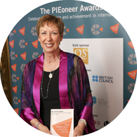 dr. dwyer with her PIEoneer award