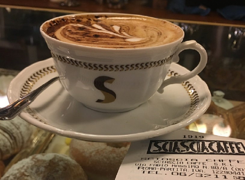 Chocolate cappuccino on study abroad in Rome