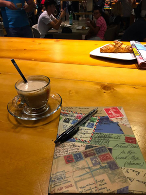 Coffee and Map in Rome