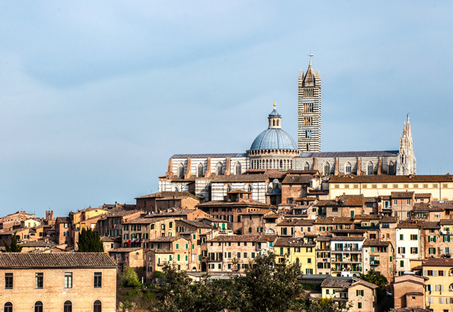 view from medici fortress in siena