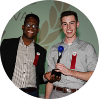 Student filmmakers accept Study Abroad Film Festival trophy