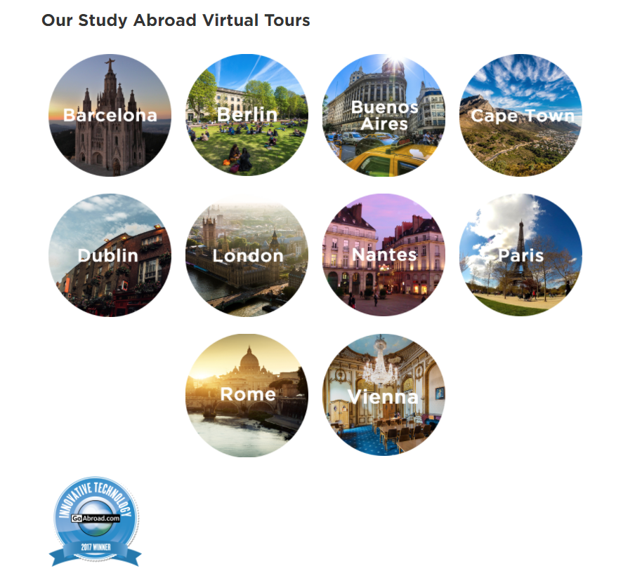 Our Study Abroad Virtual Tours