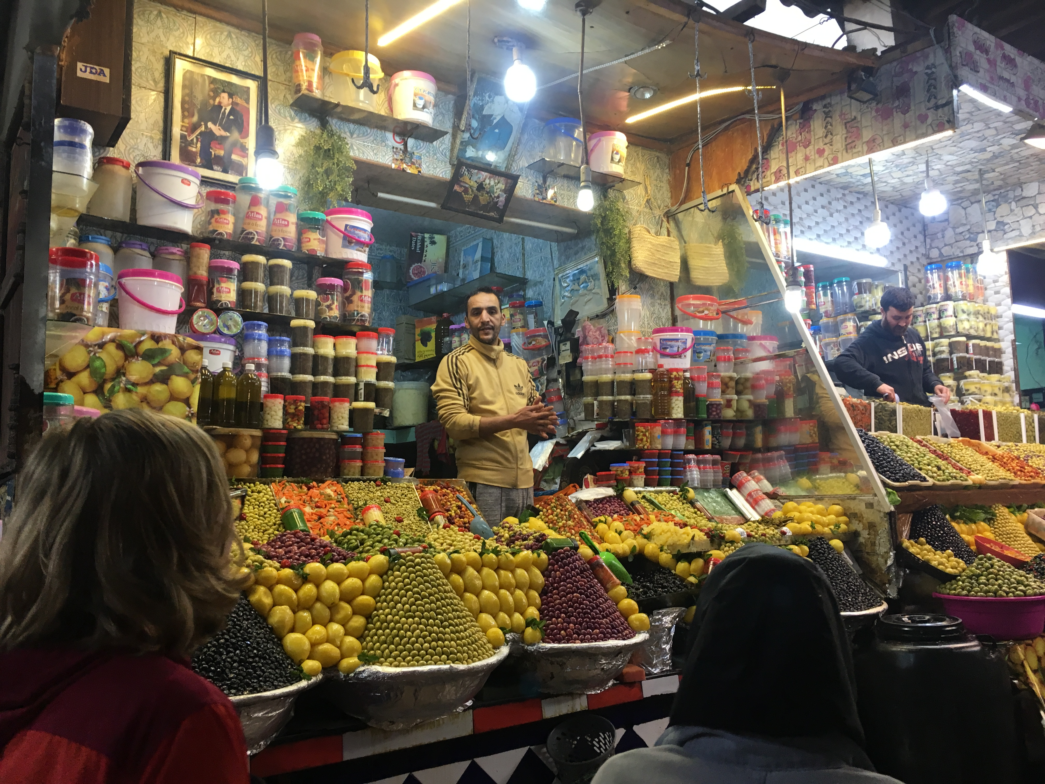 A shopkeeper in the market