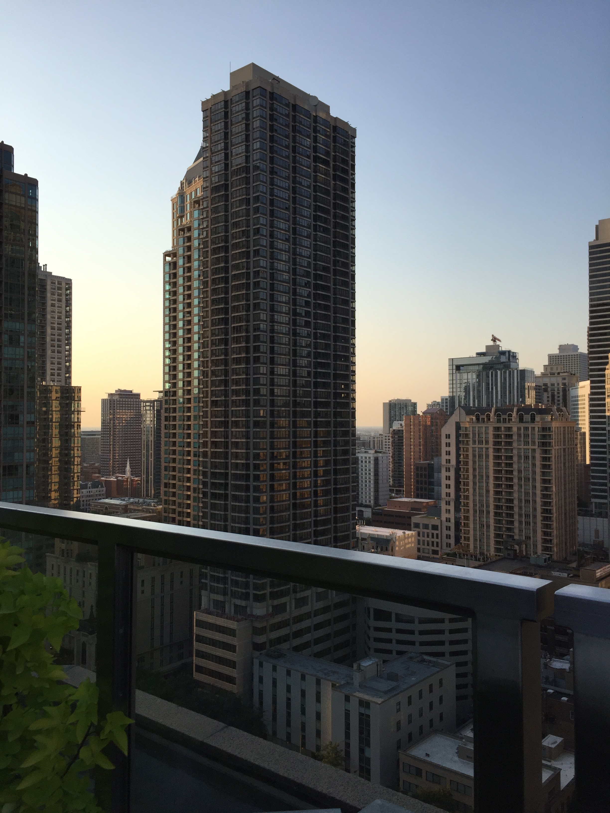 View from Rooftop Terrace amongst other Tall Buildings