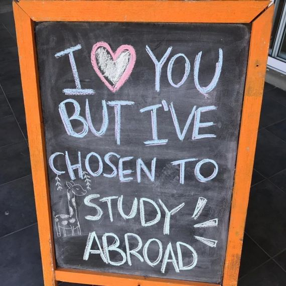 I love you but I've chosen to study abroad