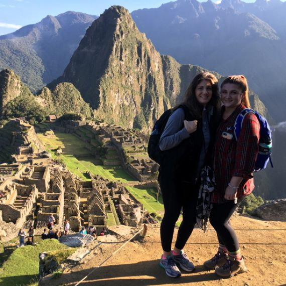 Audrey O'Donnell at Machu Picchu