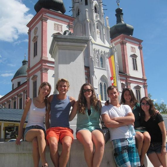 Students studying abroad in Austria