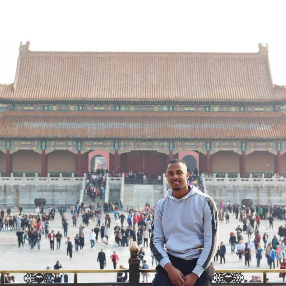 Student at the Forbidden City in China
