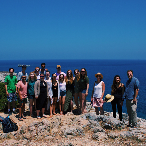 Customized & Faculty-Led study abroad group by the water