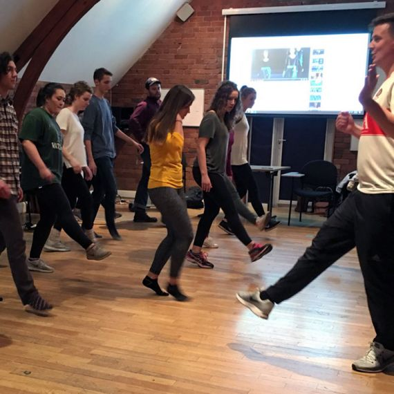 students learning to dance in Dublin