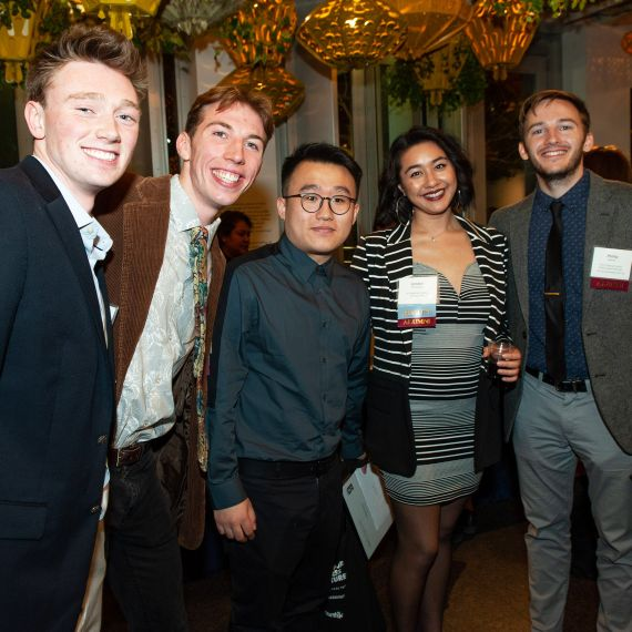 film festival finalists and alumni host at 2019 study abroad film festival reception
