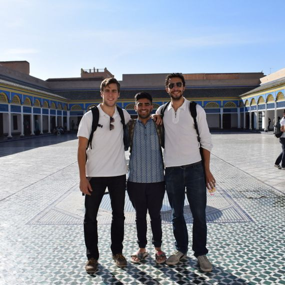 3 students in morocco